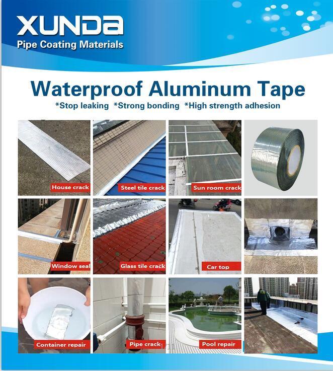 Waterproof Aluminium Bitumen Flashing Tape Aluminum Foil